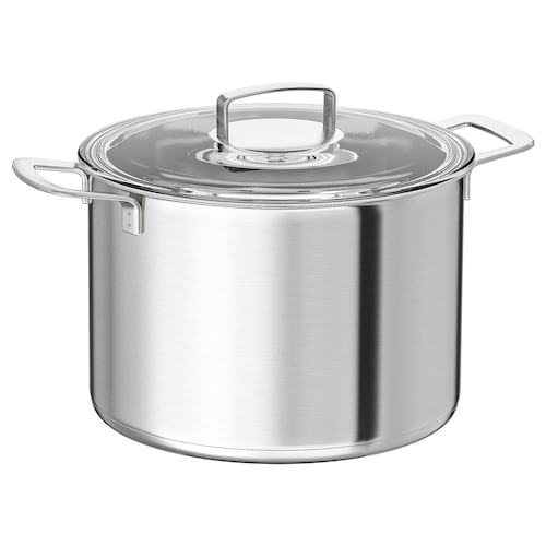 IKEA 365+ stockpot with lid stainless steel/glass 19 cm 28 cm 10 l
