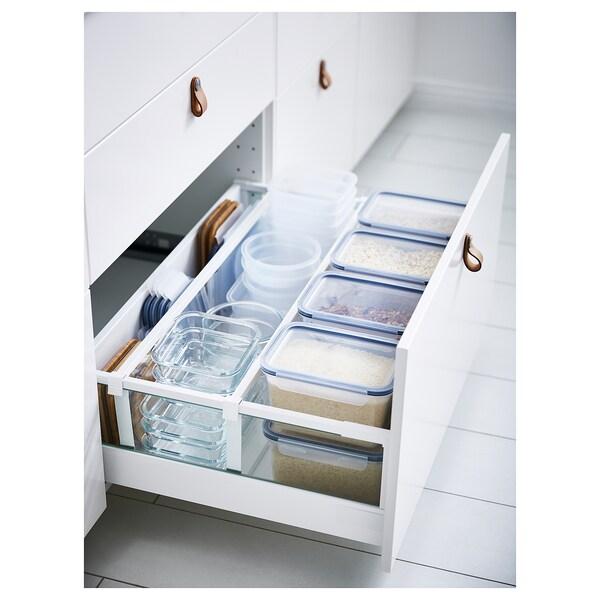IKEA 365+ Food container, rectangular/plastic, 2.0 l
