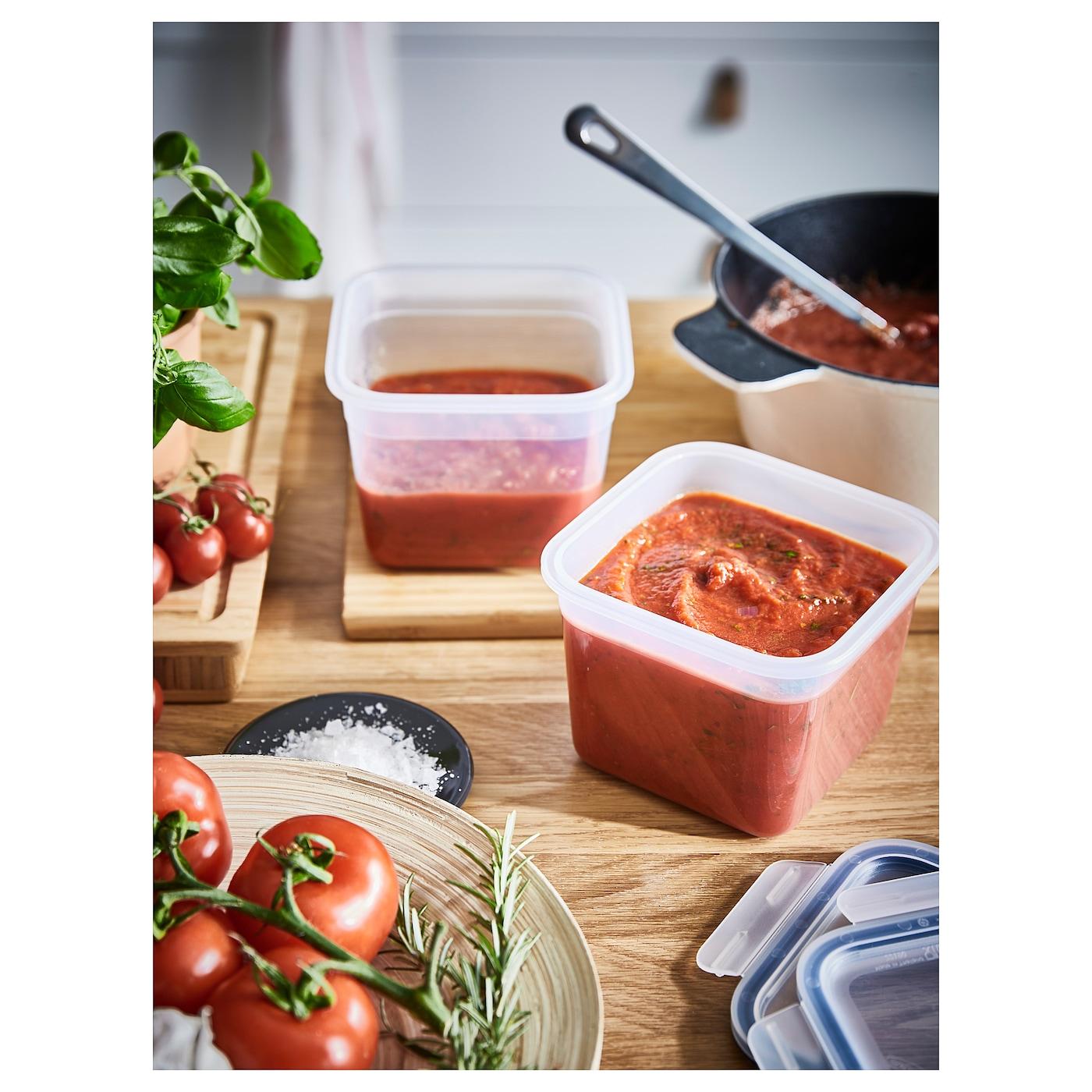 IKEA 365+ Food container, square/plastic, 1.4 l