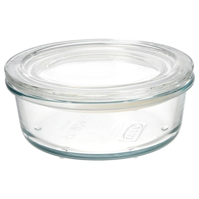 IKEA 365+ Food container with lid, glass, 400 ml