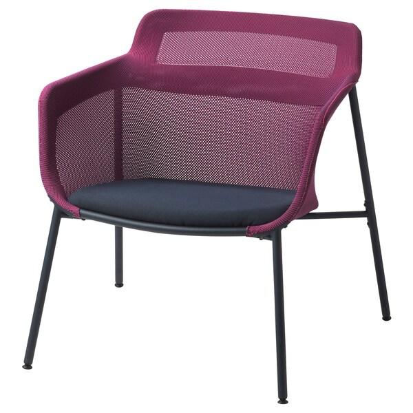 IKEA PS 2017 armchair pink/blue 72 cm 75 cm 71 cm 49 cm 50 cm 40 cm 120 kg