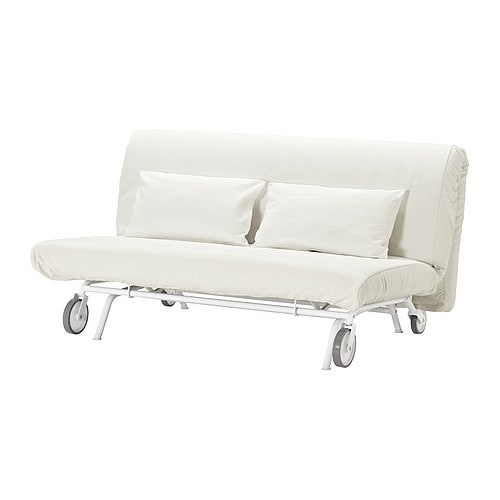IKEA PS MURBO Two-seat sofa-bed IKEA Thanks to the castors the sofa is easy to move when cleaning or rearranging the furniture.
