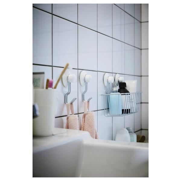 IMMELN Shower basket, zinc plated, 24x14 cm