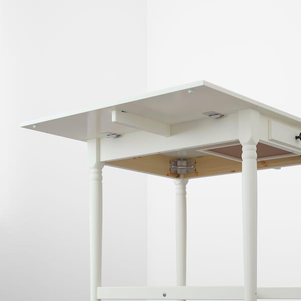 INGATORP Drop-leaf table, white, 65/123x78 cm