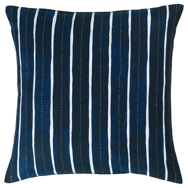 INNEHÅLLSRIK cushion cover handmade blue/white 50 cm 50 cm