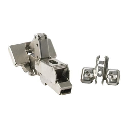 INTEGRAL Hinge IKEA 153 degrees opening angle; makes it easy to reach and pull out fully-extending drawers from a high cabinet, etc.