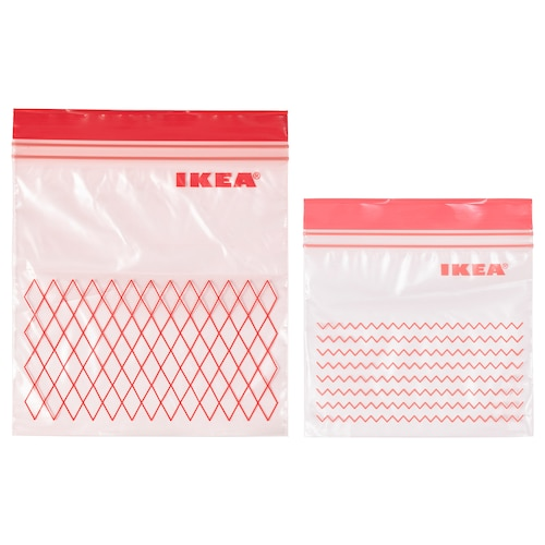 ISTAD resealable bag red 60 pieces