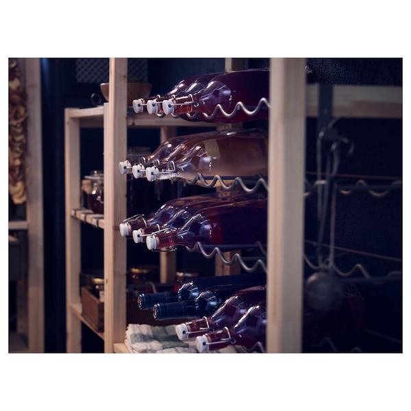 IVAR Bottle rack, grey, 83x30 cm
