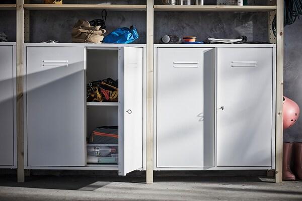 IVAR Cabinet with doors, white, 80x83 cm