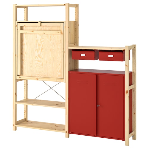 IKEA IVAR Shelv unit w table/cabinets/drawers