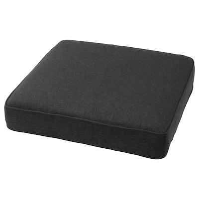 JÄRPÖN/DUVHOLMEN Seat cushion, outdoor, anthracite, 62x62 cm