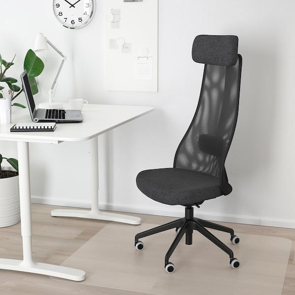 JÄRVFJÄLLET Office chair, Gunnared dark grey