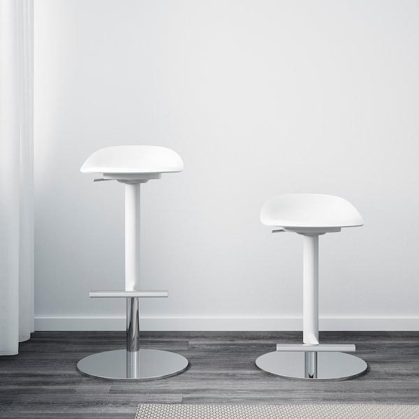 JANINGE Bar stool, white, 76 cm