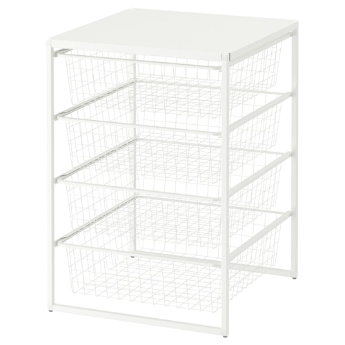 IKEA JONAXEL Frame/wire baskets/top shelf