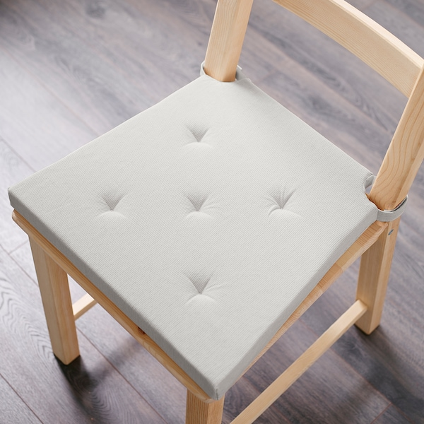 JUSTINA Chair pad, natural, 35/42x40x4.0 cm