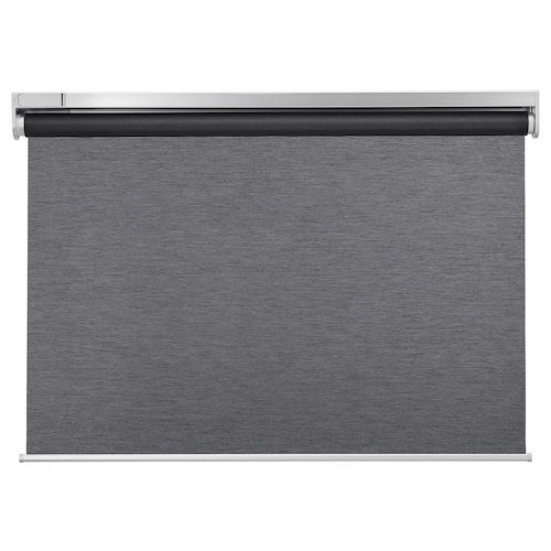 KADRILJ roller blind wireless/battery-operated grey 80 cm 84.3 cm 195 cm 1.56 m²
