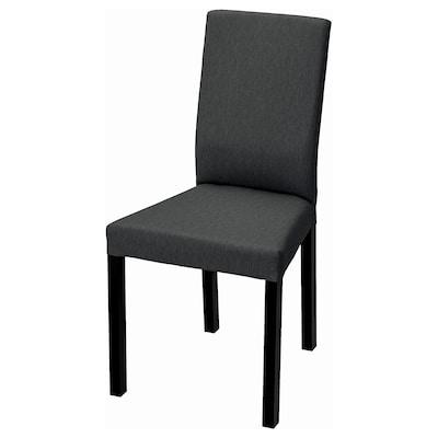 KÄTTIL Chair, black/Knisa dark grey