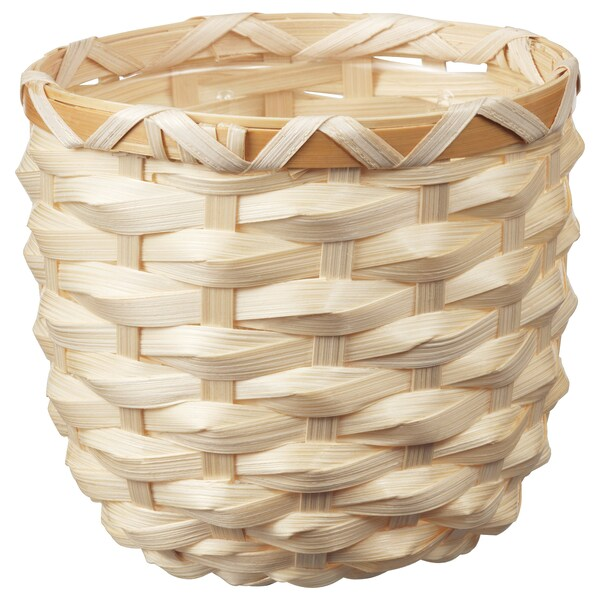 KAFFEBÖNA Plant pot, bamboo, 9 cm