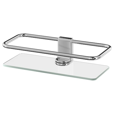 KALKGRUND Shower shelf, chrome-plated, 24x6 cm