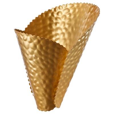 KARISMATISK Lamp shade, gold-colour