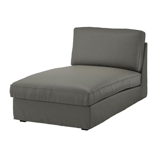 KIVIK Chaise longue Borred grey green IKEA