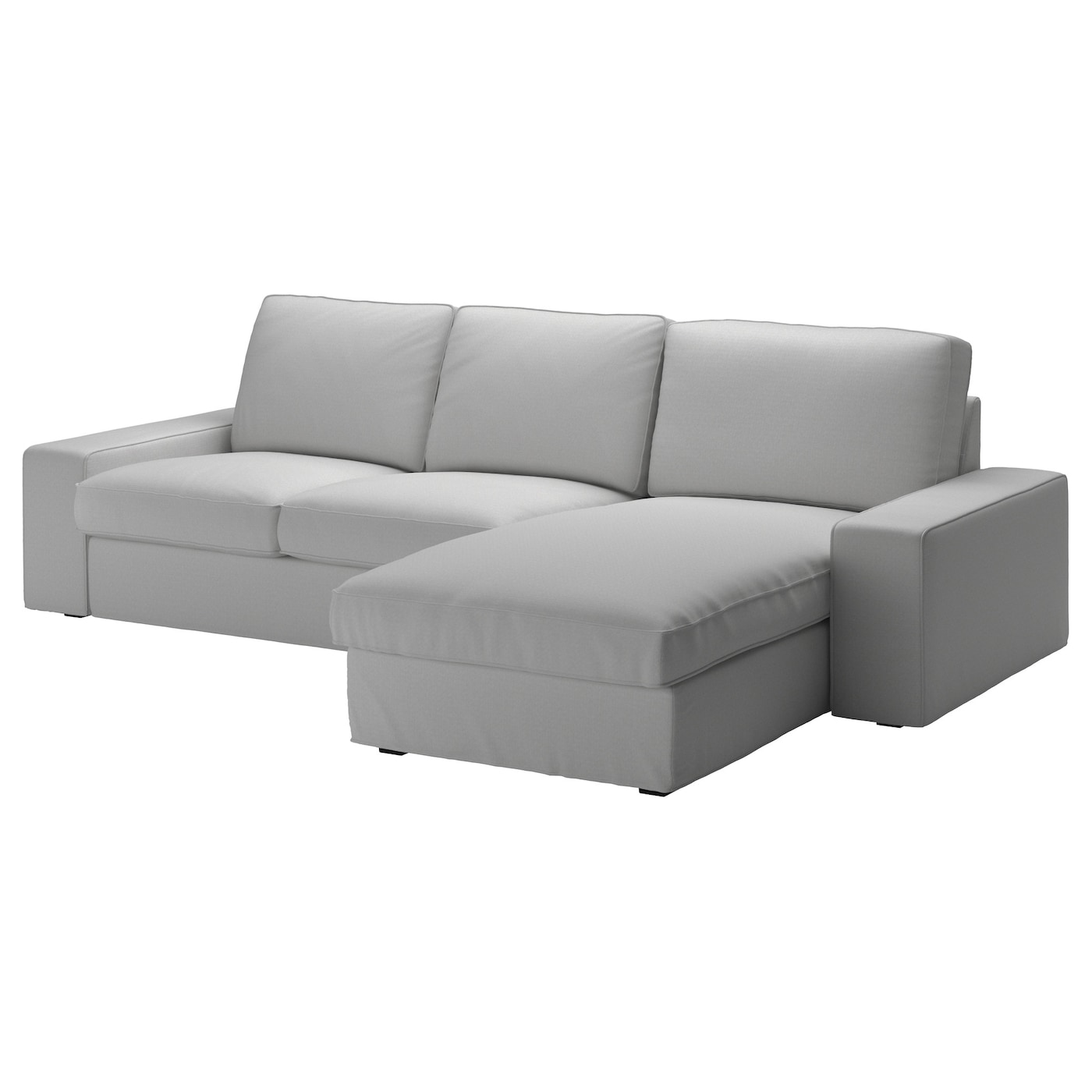 Kivik 3 Seat Sofa Orrsta With Chaise Longue Orrsta Light Grey