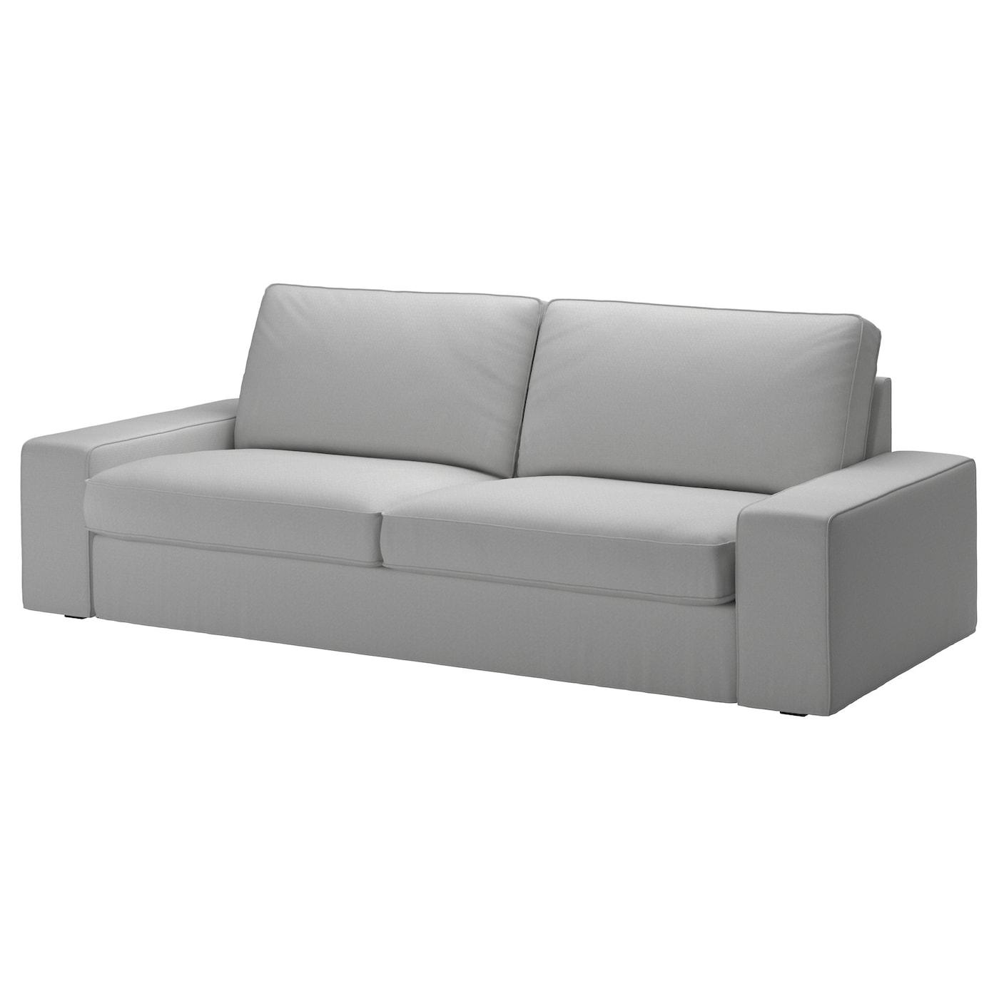 Kivik Three Seat Sofa Orrsta Light Grey Ikea