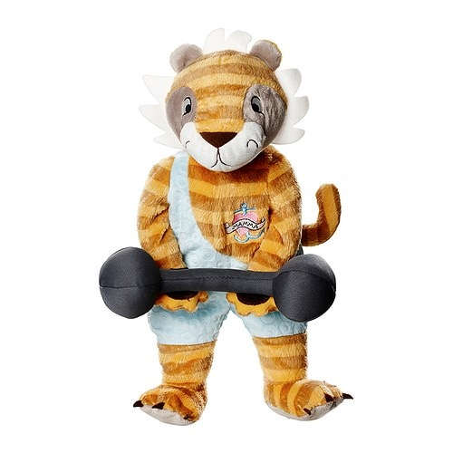 KLAPPAR CIRKUS Soft toy, tiger IKEA All soft toys are good at hugging, comforting and listening and are fond of play and mischief.