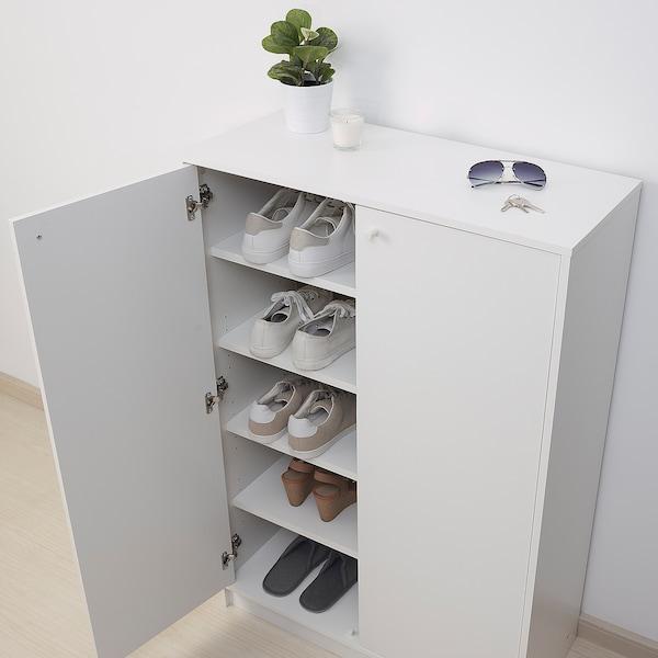 KLEPPSTAD Shoe cabinet/storage, white, 80x35x117 cm