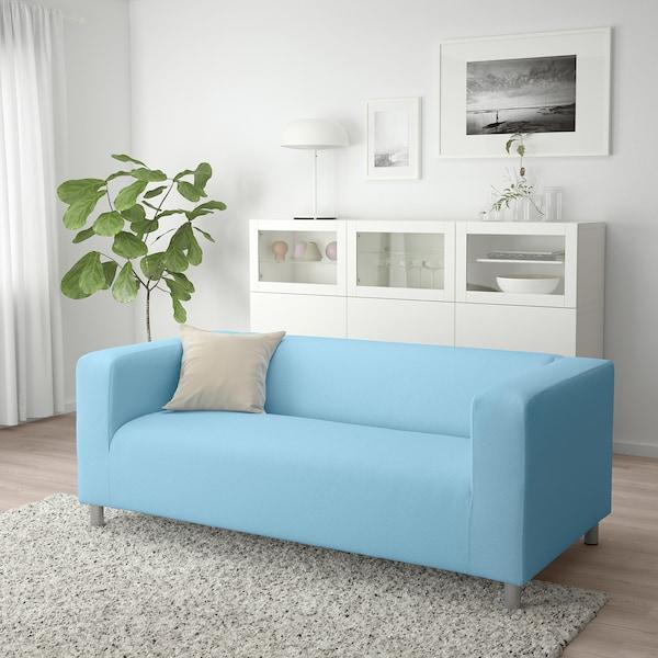 Klippan 2 Seat Sofa Vissle Light Blue Ikea