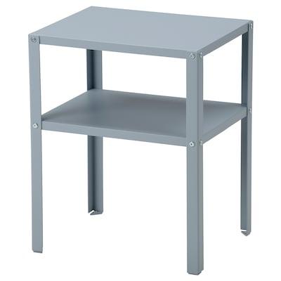 KNARREVIK Bedside table, light grey-blue, 37x28 cm