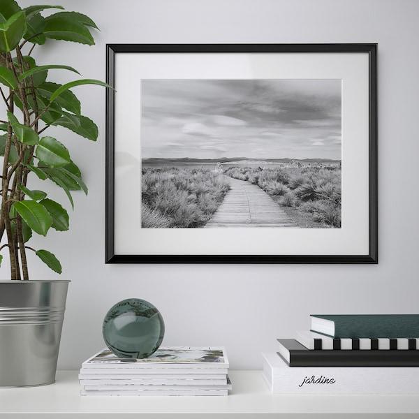 KNOPPÄNG Frame, black, 40x50 cm