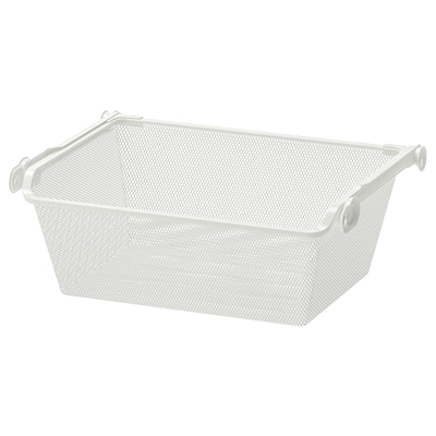 KOMPLEMENT Mesh basket with pull-out rail, white, 50x35 cm