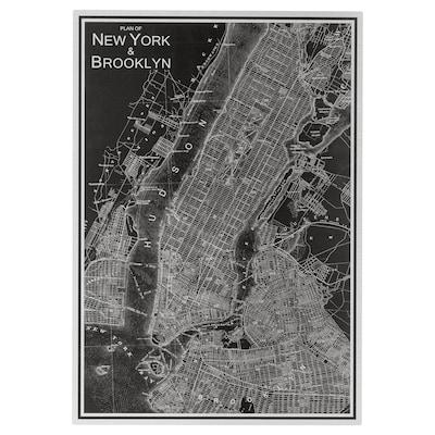 KOPPARFALL Picture, New York City, 49x70 cm