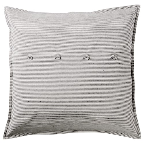 KRISTIANNE cushion cover white/dark grey striped 50 cm 50 cm