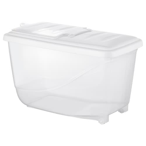 KRITISK dry food jar with lid white 43 cm 24 cm 26 cm 16.0 l