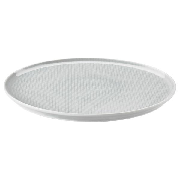 KRUSTAD Plate, light grey, 25 cm