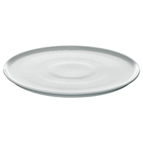 KRUSTAD plate light grey 25 cm