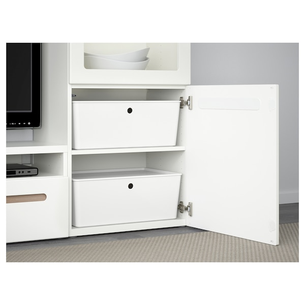 KUGGIS Box with lid, white, 37x54x21 cm