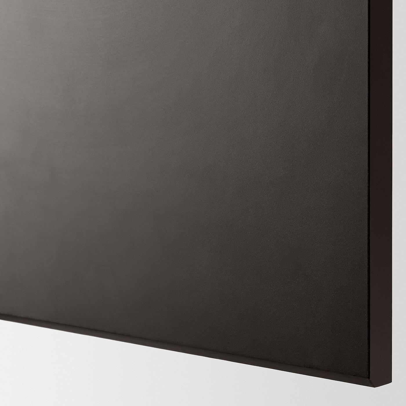 KUNGSBACKA 2-p door f corner base cabinet set, anthracite, 25x80 cm