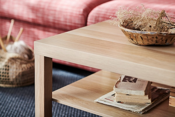 LACK Coffee table, white stained oak effect, 118x78 cm