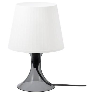 LAMPAN Table lamp, dark grey/white, 29 cm