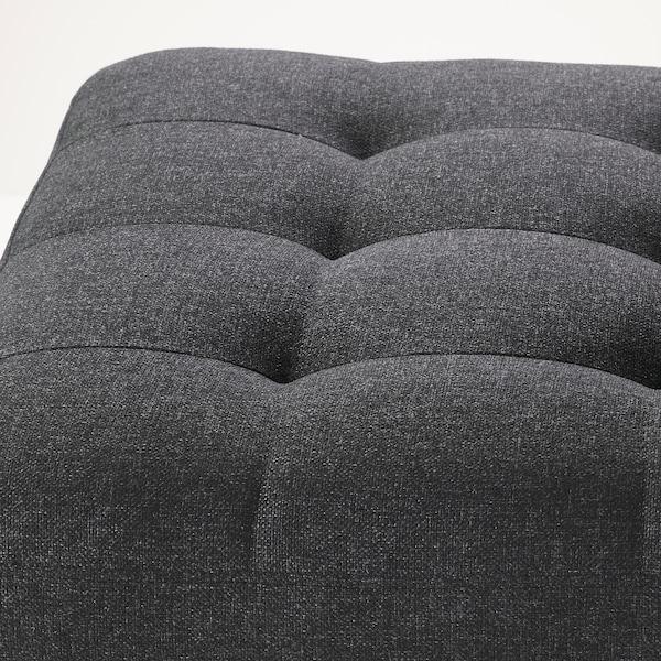 LANDSKRONA Footstool, Gunnared dark grey/wood