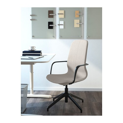 LÅNGFJÄLL Swivel chair IKEA Your back gets support and extra relief from the built-in lumbar support.