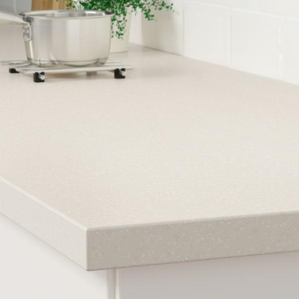 LAXNE Custom made worktop, light beige with mineral/glitter effect/acrylic, 1 m²x4 cm