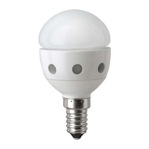 LEDARE LED bulb E14 IKEA LED consumes 85% less energy and lasts 20 times longer than incandescent bulbs.