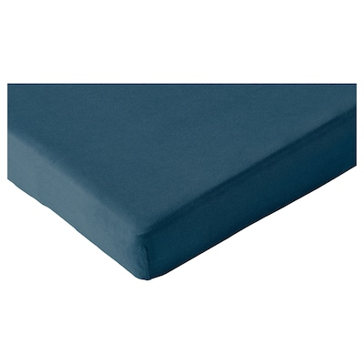 LEN Fitted sheet for ext bed, set of 2, dark turquoise