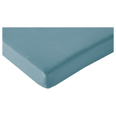 LEN Fitted sheet for ext bed, set of 2, turquoise