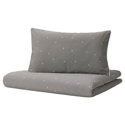 LENAST Duvet cover 1 pillowcase for cot, dot pattern, 110x125/35x55 cm