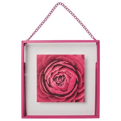 LERBODA Frame, pink, 16x16 cm